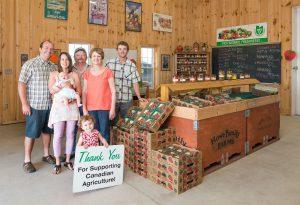 Family in Farmers' Market