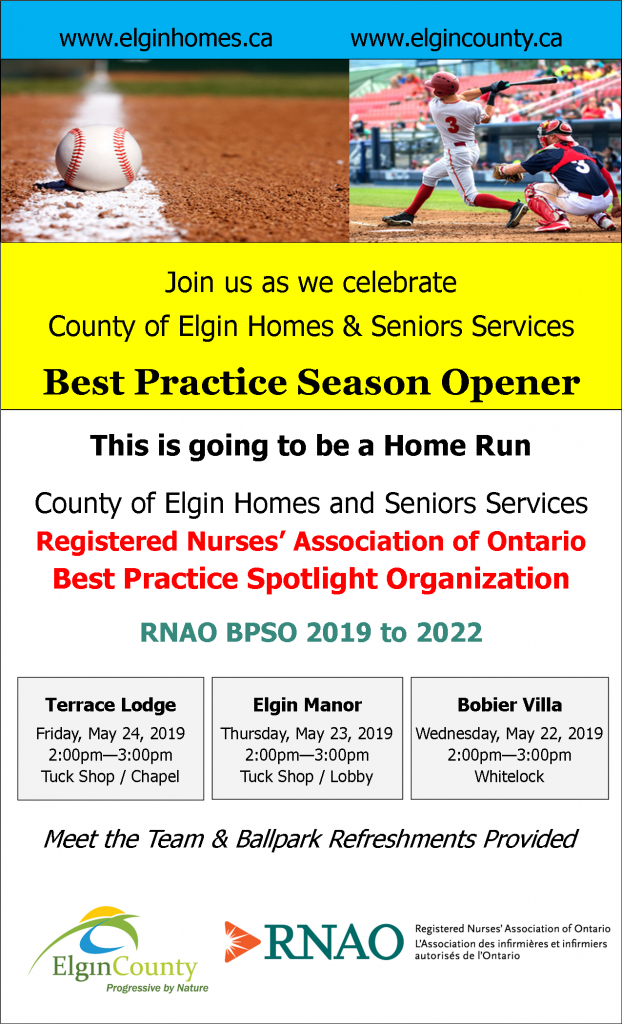 County of Elgin Homes and Seniors Services RNAO BPSO 2019 to 2022