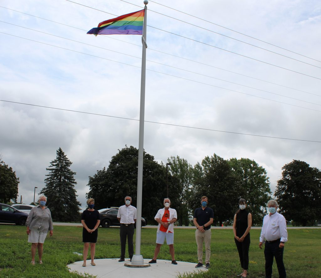 Elected Officials attend pride flag raising