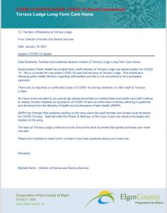 Terrace Lodge Family Notification