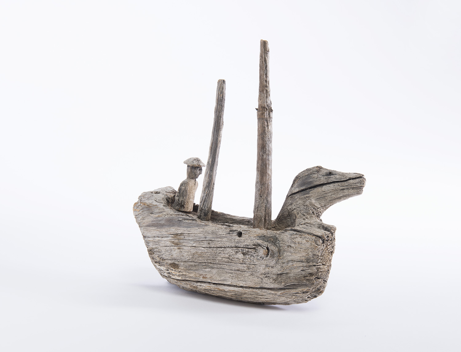 Wooden Carving of Boat