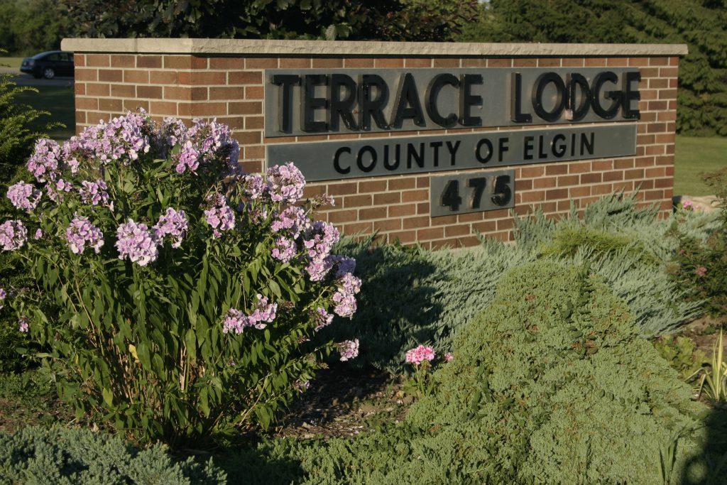 Terrace Lodge Brick Sign