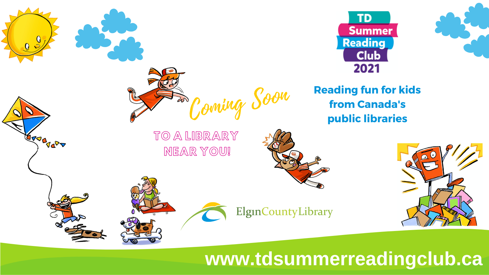 Summer Reading Club 2021 coming soon to a library near you