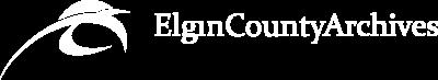 Elgin County Archives Logo - White