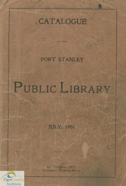Port Stanley Catalogue 1901